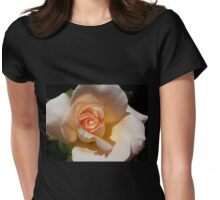 Peach Rose Bud Womens Fitted T-Shirt