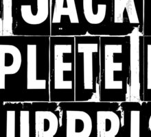 I Am Jack's Complete Lack of Surprise - Fight Club Sticker