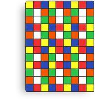 Cube Rubik Colors Canvas Print