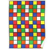 Cube Rubik Colors Poster
