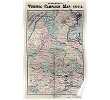 Civil War Maps 1558 Schonberg's Virginia campaign map 1864 Poster