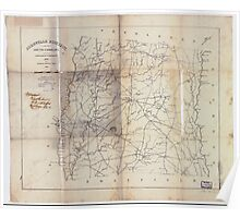 Civil War Maps 0022 Abbeville District South Carolina Poster