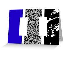 AJ3 - Art Sports Blue Greeting Card