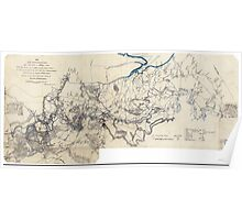 Civil War Maps 0933 Map of the Rappahannock River fron sic Port Royal to Richards Ferry Poster