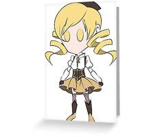 Mami Chibi Greeting Card