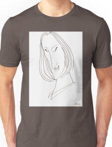 Abstract sketch of face VIII Unisex T-Shirt
