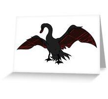 Life Fiber Swan Greeting Card