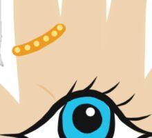Fancy Evil Eye Boho Hamsa Tumblr Makeup Boho Print Sticker