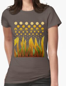 FLAMES OF SUNFLOWER PETALS Womens Fitted T-Shirt