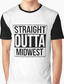 Straight Outta Midwest Graphic T-Shirt