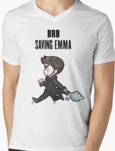 BRB -- saving emma Mens V-Neck T-Shirt
