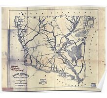 Civil War Maps 0503 Horry District South Carolina Poster