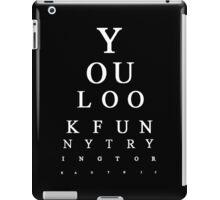 Funny Snellen Chart - BLACK iPad Case/Skin