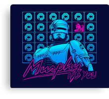 Murphy, It's You (Blue Background) Canvas Print