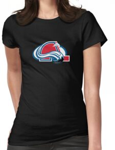 Colorado Nordiques - Quebec Avalanche Womens Fitted T-Shirt