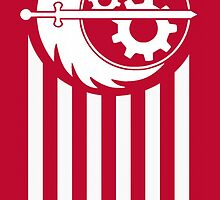 Fallout 4 Brotherhood of Steel Red Flag by 8Train