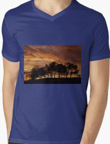 Stormy Sky at Sunset Mens V-Neck T-Shirt