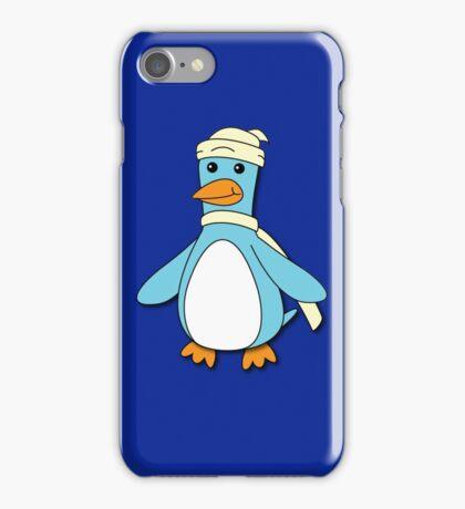 Light Blue & Creme Penguin iPhone Case/Skin