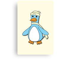 Light Blue & Creme Penguin Canvas Print