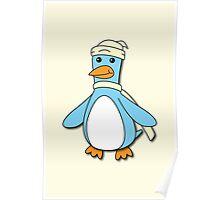 Light Blue & Creme Penguin Poster