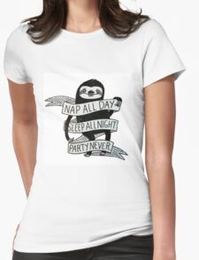 Sloth Life Womens Fitted T-Shirt