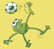Frog Executing a Bycicle Kick with a Soccer Ball by Zoo-co