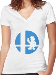 Dr. Mario - Super Smash Bros. Women's Fitted V-Neck T-Shirt