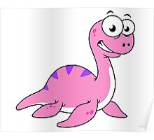 Cute illustration of the Loch Ness Monster. Poster