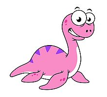 Cute illustration of the Loch Ness Monster. Photographic Print