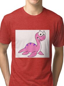 Cute illustration of the Loch Ness Monster. Tri-blend T-Shirt