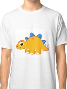 Cute illustration of a Stegosaurus. Classic T-Shirt