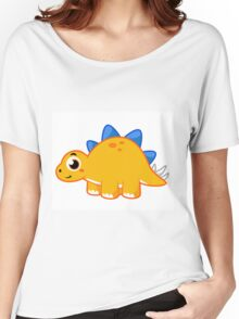 Cute illustration of a Stegosaurus. Women's Relaxed Fit T-Shirt