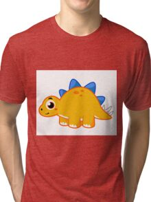 Cute illustration of a Stegosaurus. Tri-blend T-Shirt