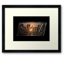 Fallout 4 title of the game! Framed Print