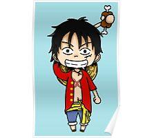 Monkey D. Luffy chibi Poster