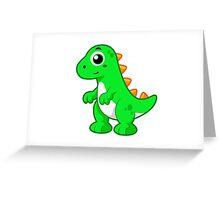 Cute illustration of Tyrannosaurus Rex. Greeting Card