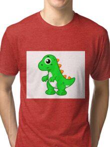 Cute illustration of Tyrannosaurus Rex. Tri-blend T-Shirt
