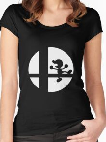 Mr. Game and Watch - Super Smash Bros. Women's Fitted Scoop T-Shirt