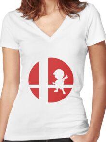 Ness - Super Smash Bros. Women's Fitted V-Neck T-Shirt