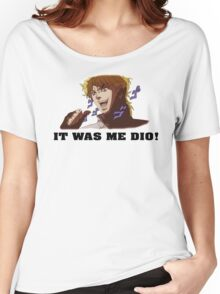 JoJo's Bizarre Adventure: IT WAS ME DIO! (With Icons) Women's Relaxed Fit T-Shirt