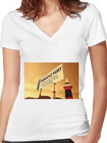 Welcome To Fremantle Women's Fitted V-Neck T-Shirt