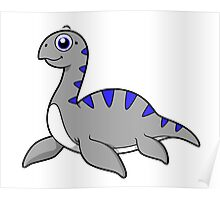 Cute illustration of a Loch Ness Monster. Poster