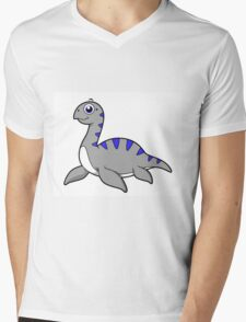 Cute illustration of a Loch Ness Monster. Mens V-Neck T-Shirt