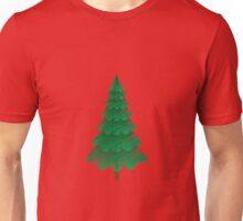 Christmas Tree with Red Background Unisex T-Shirt
