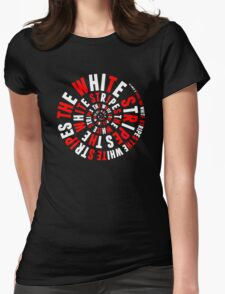 White Stripes Whirlpool Womens Fitted T-Shirt