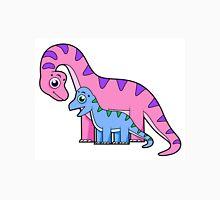 Cute illustration of a mother and child Brachiosaurus. Unisex T-Shirt