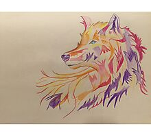 Colorful Wolf Art Work Photographic Print