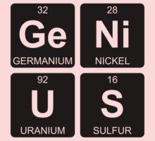 Ge Ni U S - Genius - Periodic Table - Chemistry Baby Tee