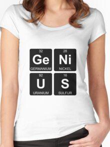 Ge Ni U S - Genius - Periodic Table - Chemistry Women's Fitted Scoop T-Shirt