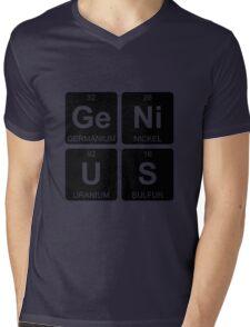 Ge Ni U S - Genius - Periodic Table - Chemistry Mens V-Neck T-Shirt